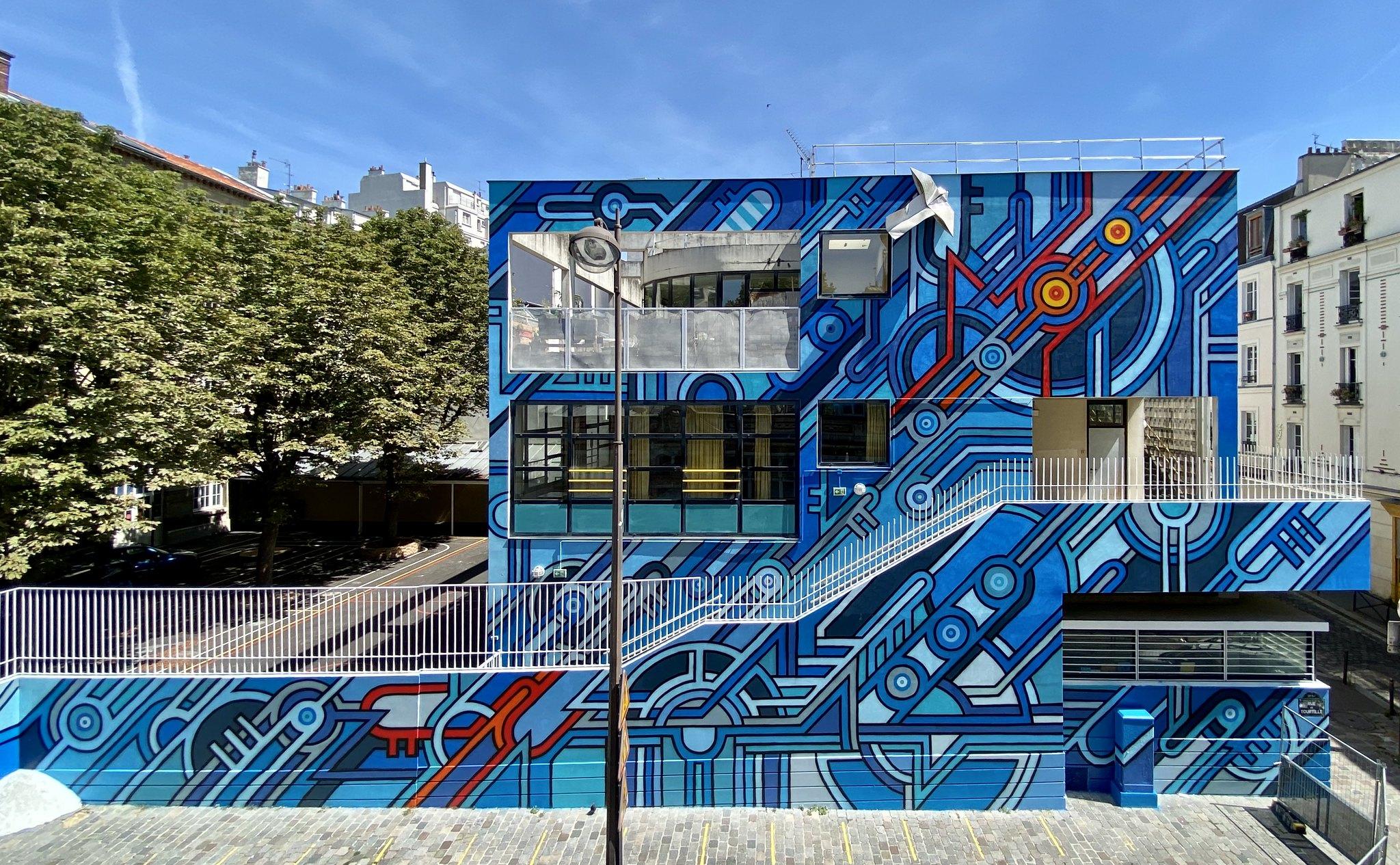 Façade de l'école de Tourtille Paris Belleville